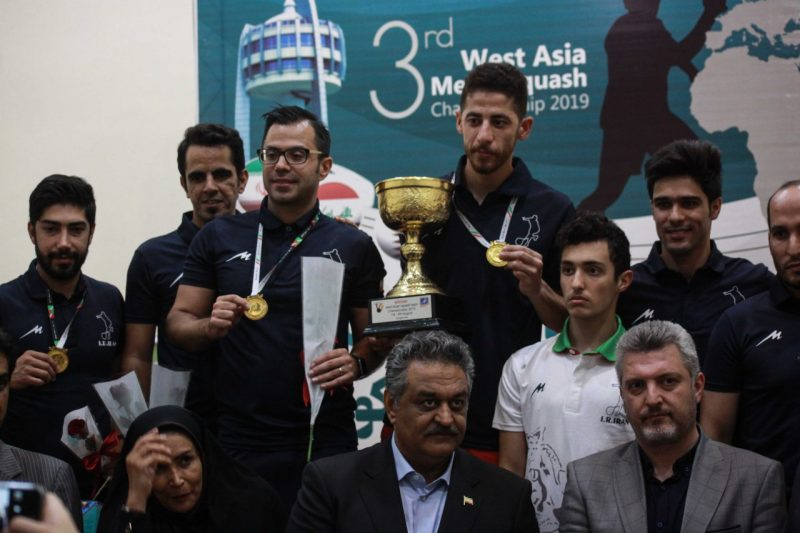vitorioso time iraniano, no West Asian Championship 2019
